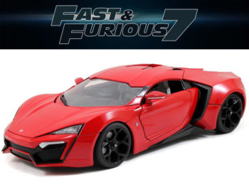 Jada 64018 W4 The Fast and Furious Lykan Hypersport Supercar 1:18 Red