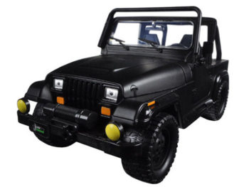 Jada 98020 Just Trucks with Extra Wheels 1:24 1992 Jeep Wrangler Matte Black