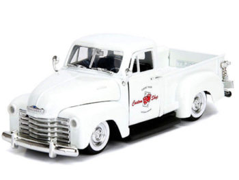 Jada 99177 Just Trucks 1953 Chevrolet 3100 Pick Up Truck 1:24 Las Vegas Nevada White