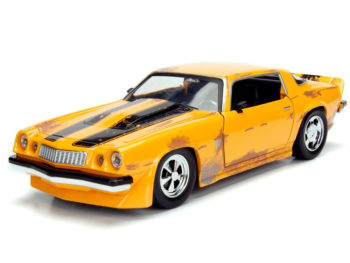Jada 99383 Hollywood Rides Transformers 1977 Chevrolet Camaro Concept 1:24 Bumblebee Yellow