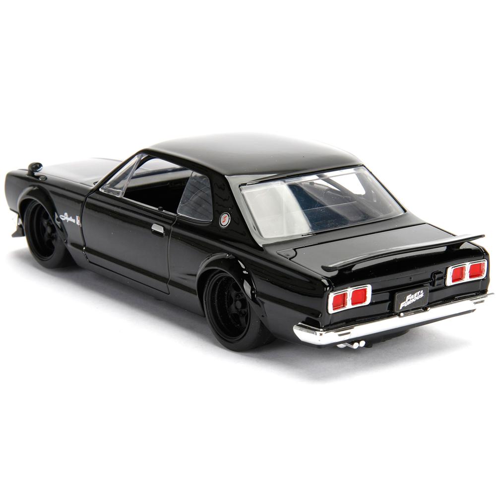 D.K.s Nissan 350Z Black Fast n Furious Movie 1//24 by Jada 97172 Full Body Grey Design and Black Hood