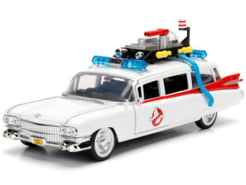 Jada 99731 Hollywood Rides Ghostbusters Ecto 1 1959 Cadillac Ambulance 1:24 White