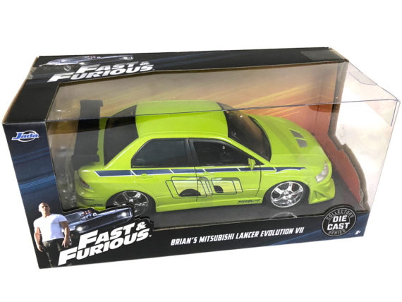 Jada 99788 Fast & Furious Brian's 2002 Mitsubishi Lancer EVO VII 1:24 Green