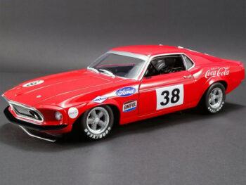 Acme A1801828 Coca Cola 1969 Ford Mustang Boss 302 Trans Am #38 1:18 Allan Moffat
