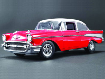 Acme A1807005 1957 Chevrolet Bel Air Street Strip 1:18 Red with White Top