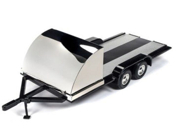 Autoworld Amm1166 Tandem Axle Trailer 1:18 with Black Shield / Fenders