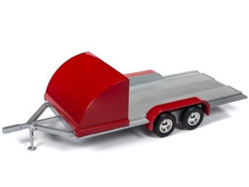 Autoworld Amm1167 Tandem Axle Trailer 1:18 with Red Shield / Fenders