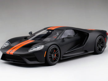 Top Speed TS0092 Ford GT 1:18 Limited Edition 999 Matte Black with Competition Orange Stripes