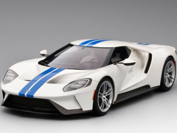Top Speed TS0093 Ford GT 1:18 Limited Edition 999 Frozen White with Lightning Blue Stripes