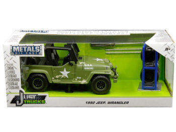 Jada 30520 Just Trucks with Extra Wheels 1:24 1992 Jeep Wrangler Green