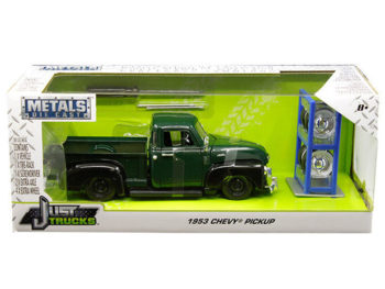 Jada 30521 Just Trucks with Extra Wheels 1:24 2014 Chevrolet 3100 Pickup Truck Green