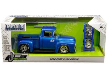 Jada 30709 Just Trucks with Extra Wheels 1:24 1956 Ford F-100 Pickup Truck Nitrous Express Blue