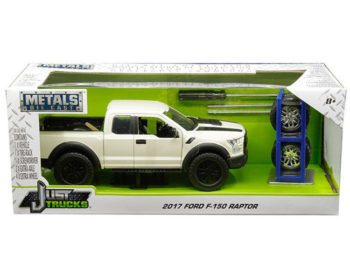 Jada 30519 Just Trucks with Extra Wheels 1:24 2017 Ford F-150 Raptor White