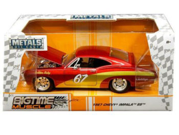 Jada 30529 Bigtime Muscle 1967 Chevrolet Impala SS #67 1:24 Red
