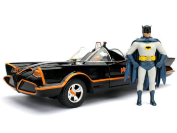 Jada 98259 DC Classic TV Series 1966 Batmobile 1:24 with Batman & Robin Figure Black