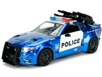 Jada 98400 Hollywood Rides Transformers 1:24 Barricade The Last Knight Custom Ploice Car Blue