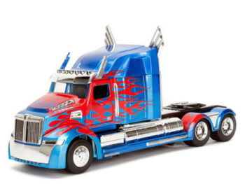 Jada 98403 Hollywood Rides Transformers 1:24 Optimus Prime Western Star 5700 XE Phantom Blue