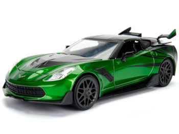 Jada 98499 Hollywood Rides Transformers 1:24 Crosshairs The Last Knight 2016 Chevrolet Stingray