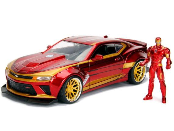 Jada 99724 Hollywood Rides 2016 Chevy Camaro SS 1:24 with Iron Man Figure