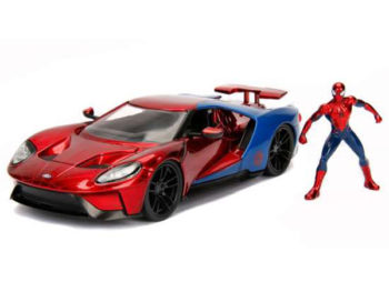 Jada 99725 Hollywood Rides 2017 Ford GT 1:24 with Spider Man Figure