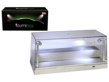 Illumibox 10002 Clear Display Show Case for 1:24 & 1:64 with LED Lights Silver Base