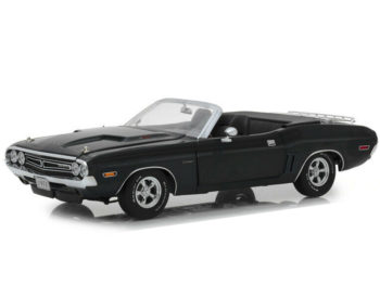 Greenlight 13528 Dodge Challenger R/T Convertible 1:18 with Luggage Rack Grey