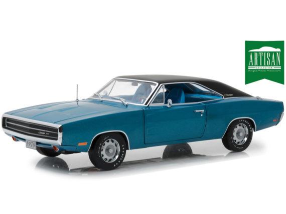 Greenlight 13530 1970 Dodge Charger 500 SE 1:18 Blue