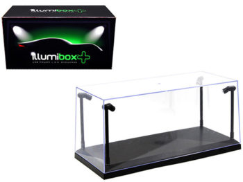 Illumibox 14001 Clear Display Show Case for 1:18 with LED Lights Black Base