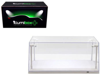 Illumibox 14005 Clear Display Show Case for 1:18 with LED Lights White Base