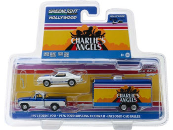 Greenlight 31070 A Hitch & Tow Charlie's Angels Ford F-100 & Mustang 1:64 Set