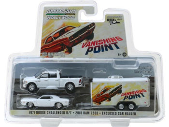 Greenlight 31070 B Hitch & Tow Vanishing Point Dodge Ram & Challenger 1:64 Set