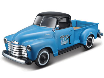 Maisto 32506 Outlaws 1950 Chevrolet 3100 Pick Up Truck 1:25 Blue with Black Top