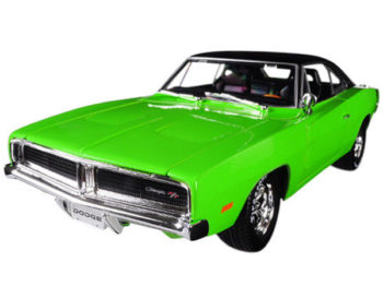 Maisto 32612 Design Edition 1969 Dodge Charger R/T 1:18 Green with Black Top