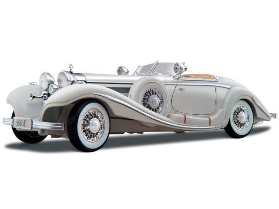 Maisto 36055 Premiere Edition 1936 Mercedes Benz 500 K Type Specialroadster 1:18 White