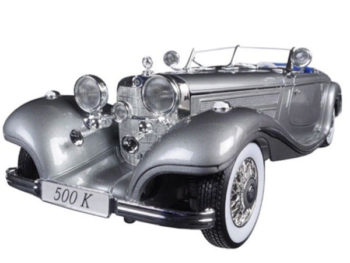 Maisto 36862 Premiere Edition 1936 Mercedes Benz 500 K Type Specialroadster 1:18 Grey