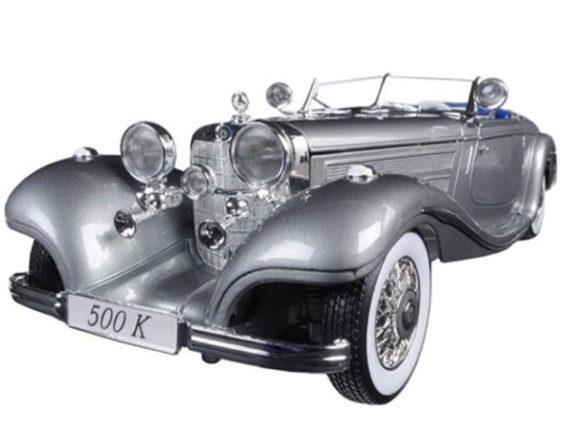 Maisto 36862 Premiere Edition 1936 Mercedes Benz 500 K Type Specialroadster 1:18 Grey