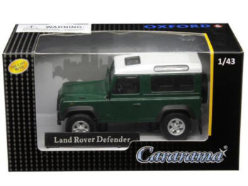 Cararama 4-55260 Land Rover Defender 1:43 White / Dark Green