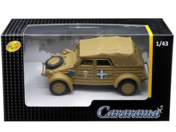 Cararama 4-90750 VW Volkswagen Kubelwagen Soft Top K Type 82 1:43 Tan