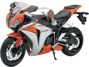 New Ray 49293 2010 Honda CBR 1000 RR 1:6 Orange Silver