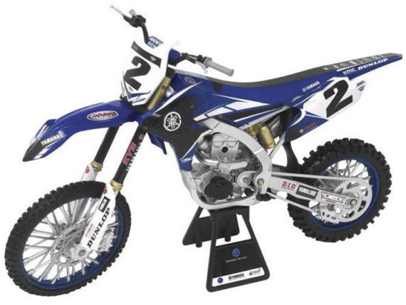 New Ray 49513 Yamaha YZ 450F 1:6 #2 Copper Webb Blue