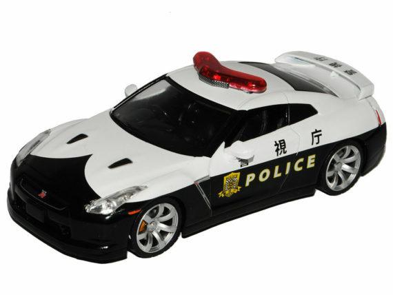 Greenlight 51068 2008 Nissan Skyline GT-R R35 Japan Police Car 1:43 Black White