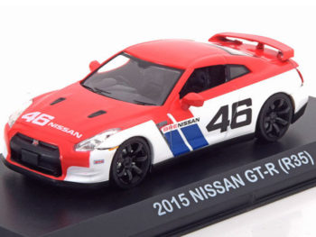 Greenlight 51069 2015 Nissan Skyline GT-R R35 BRE #46 1:43 Red White