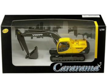 Cararama 56003 Construction Volvo EC210 Excavator 1:50 Yellow