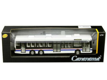 Cararama 56702 W Scania Omnilink Bus 1:50 White with Blue & Red Stripes