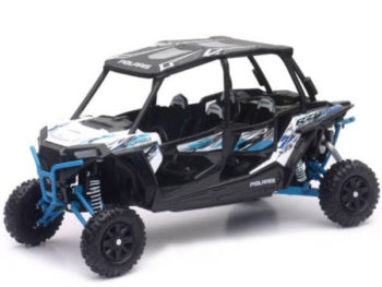 New Ray 57843 B Polaris RZR XP 4 Turbo EPS 1:18 White