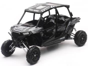 New Ray 57843 C Polaris RZR XP 4 Turbo EPS 1:18 Titanium Matte Metallic