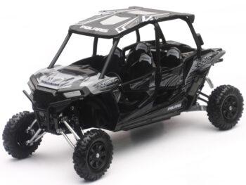 New Ray 57843 C Polaris RZR XP 4 Turbo EPS 1:18 Titanium Matte Metallic