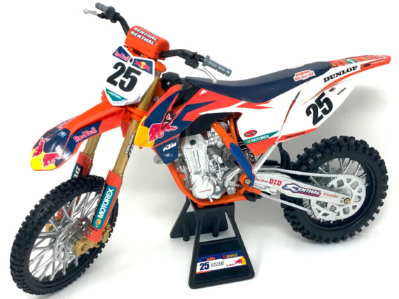 New Ray 57963 Red Bull Racing Ktm 450 SX-F 1:10 #25 Marvin Musquin
