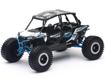 New Ray 57976 A Off Road Polaris RZR XP 4 Turbo EPS 1:18 White with Graphi