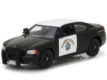 Greenlight 86087 2008 Dodge Charger Pursuit CHP Highway Patrol Police Car 1:43